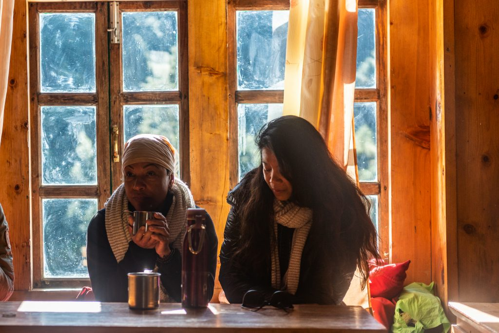 pilgrims at nunnery
